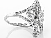 Pre-Owned White Cubic Zirconia Rhodium Over Silver Ring 3.93ctw
