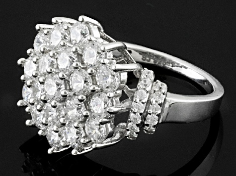 Pre-Owned Cubic Zirconia Silver Ring 5.30ctw (2.79ctw DEW)