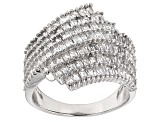 Pre-Owned White Cubic Zirconia Rhodium Over Silver Ring 3.50ctw