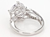 Pre-Owned White Cubic Zirconia Rhodium Over Sterling Silver Ring 6.99ctw