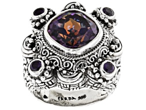 Pre-Owned Flashback™ Mystic Quartz® Silver Ring 4.75ctw