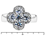 Pre-Owned White Cubic Zirconia Rhodium Over Sterling Silver Ring 2.60ctw