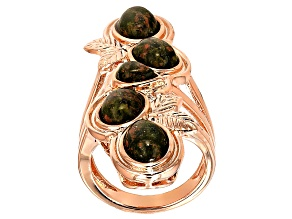 Pre-Owned Copper Unakite 5-Stone Ring