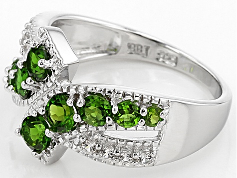 Pre-Owned Green Chrome Diopside Sterling Silver Ring 1.45ctw