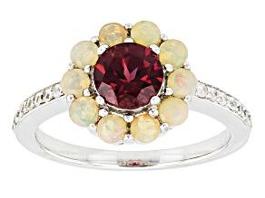 Pre-Owned Purple Rhodolite Sterling Silver Ring 1.87ctw