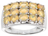 Pre-Owned Ethiopian Opal Sterling Silver Band Ring 1.75ctw