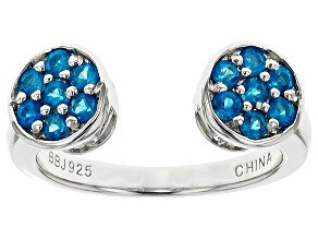 Pre-Owned Blue Neon Apatite Sterling Silver Ring. .56ctw