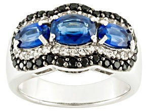 Pre-Owned Blue Kyanite Sterling Silver Ring 2.55ctw