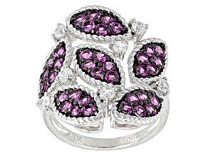 Pre-Owned Purple Rhodolite Sterling Silver Ring 2.33ctw