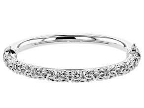 Pre-Owned Sterling Silver Byzantine Bangle Bracelet