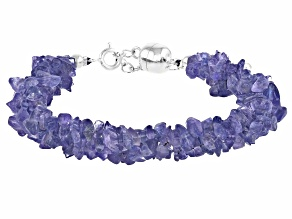 Pre-Owned Blue Tanzanite Sterling Silver Bracelet Approximately 72.00ctw