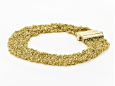 Pre-Owned 18k yellow gold over sterling silver mesh bracelet