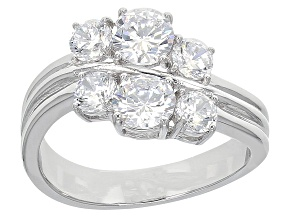 Pre-Owned Cubic Zirconia Silver Ring 3.69ctw (2.32ctw DEW)
