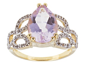 Pre-Owned Orchid Amethyst 18k Gold Over Silver Ring 4.21ctw