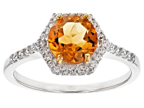 Pre-Owned Orange Citrine Sterling Silver Ring 1.31ctw