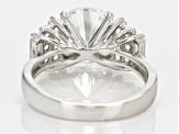 Pre-Owned White Cubic Zirconia Rhodium Over Silver Ring 7.47ctw