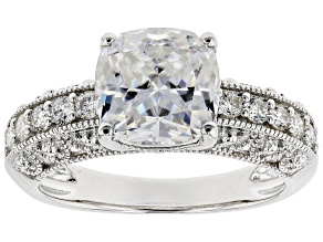 Pre-Owned Moissanite Platineve Ring 3.10ctw DEW.