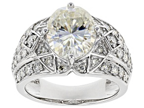 Pre-Owned Moissanite Platineve Ring 5.04ctw D.E.W