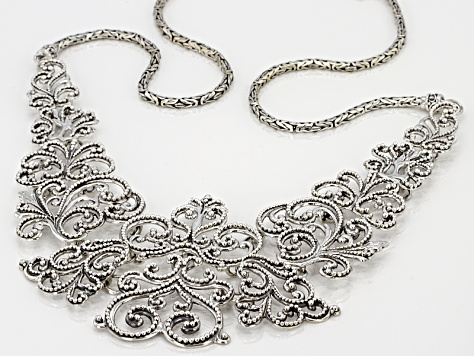 Pre-Owned Sterling Silver Filigree Necklace