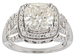 Pre-Owned Moissanite Platineve Ring 4.32ctw DEW.