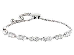 Pre-Owned Moissanite Platineve Adjustable Bracelet 1.96ctw DEW