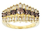 Pre-Owned Champagne Diamond 10k Yellow Gold Ring 1.25ctw