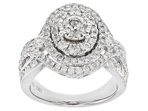 Pre-Owned White Diamond 14k White Gold Ring 2.00ctw