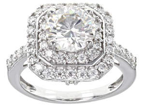 Pre-Owned Moissanite Platineve Ring 2.90ctw DEW.
