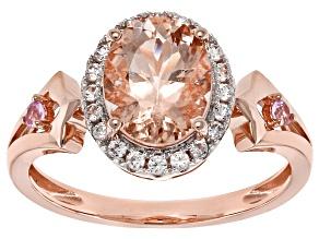 Pre-Owned Pink Morganite 14k Rose Gold Ring 1.66ctw