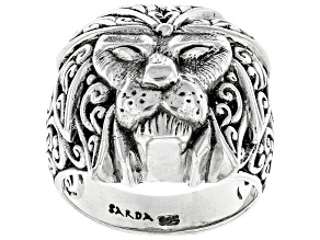 Pre-Owned Sterling Silver Lion Head Ring