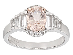 Pre-Owned Pink Morganite Sterling Silver Ring 2.04ctw