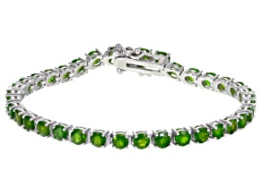 Pre-Owned Green Chrome Diopside Sterling Silver Bracelet 9.50ctw