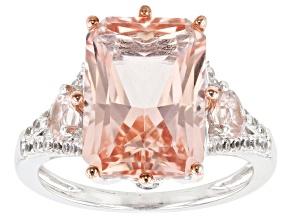 Pre-Owned Pink Morganite 14k Rose Gold Ring 7.04ctw