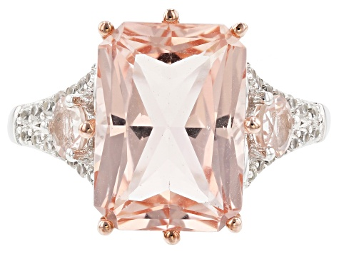 Pre-Owned Pink Morganite 14k Rose Gold Ring 7.04ctw
