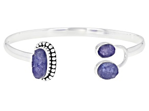 Pre-Owned Blue Tanzanite Sterling Silver Bracelet