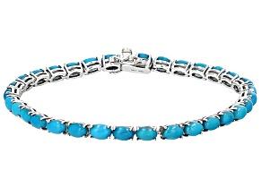 Pre-Owned Blue Sleeping Beauty Turquoise Sterling Silver Bracelet