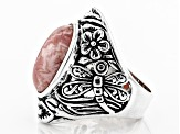 Pre-Owned Rhodochrosite Sterling Silver Ring