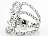 Pre-Owned Moissanite Platineve Ring 3.32ctw D.E.W