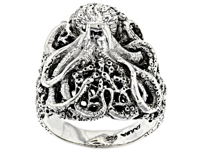 Pre-Owned Sterling Silver Octopus Ring