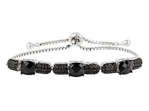 Pre-Owned Black Spinel Sterling Silver Bracelet 4.70ctw