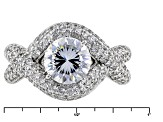Pre-Owned Cubic Zirconia Silver Ring 5.47ctw (3.59ctw DEW)