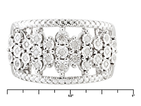 Pre-Owned Diamond Sterling Silver Ring .20ctw