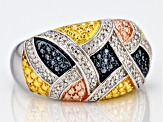 Pre-Owned Diamond Rhodium Over Brass Ring Diamond Accent