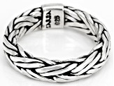 Pre-Owned Sterling Silver Snake Chain Ring
