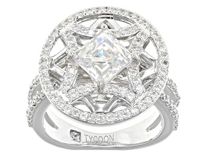 Pre-Owned White Cubic Zirconia Platineve Ring 2.81ctw