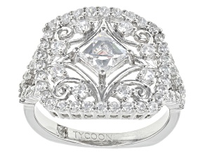 Pre-Owned White Cubic Zirconia Platineve Ring 2.82ctw