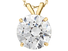Pre-Owned Bella Luce ® 2.00ct Round Diamond Simulant 10k Yellow Gold Pendant With 18