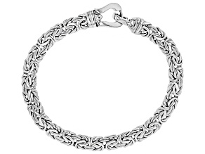 Pre-Owned Sterling Silver Toggle Lock Byzantine Bracelet 8 Inch