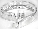 Pre-Owned Sterling Silver Ribbed Omega Bracelet 7.75 inch