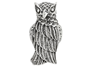 Pre-Owned Sterling Silver Owl Ring